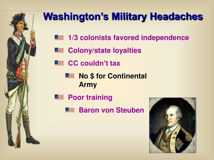 Washington's Military Headaches