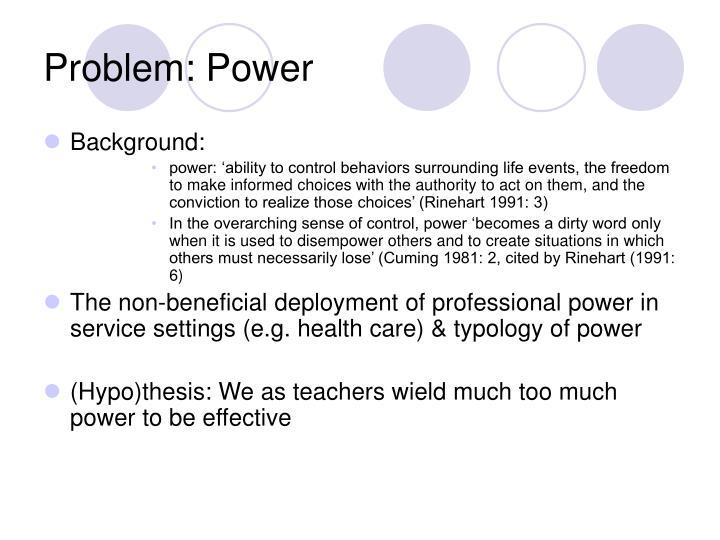 Problem: Power