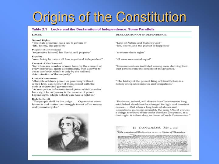 Four parts of the declaration of independence