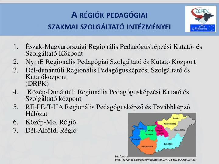 A régiók pedagógiai