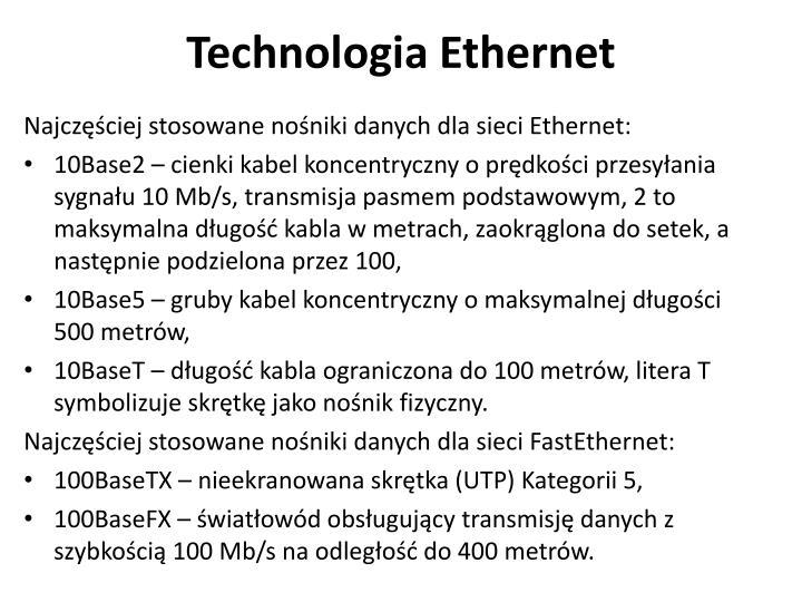Technologia Ethernet