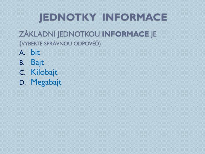 Jednotky  informace