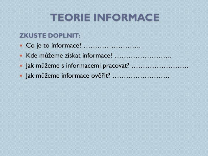 Teorie informace