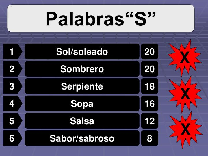 """Palabras""""S"""""""