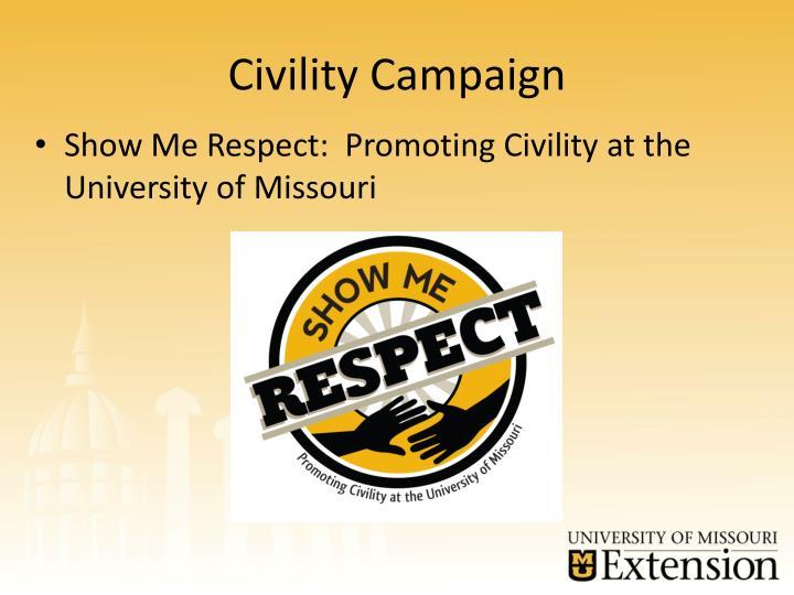 Civility Campaign