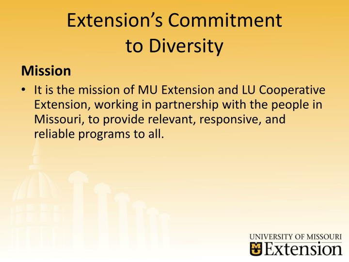 Extension s commitment to diversity1