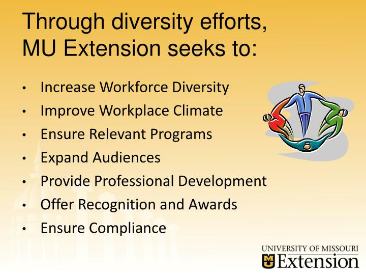 Through diversity efforts,