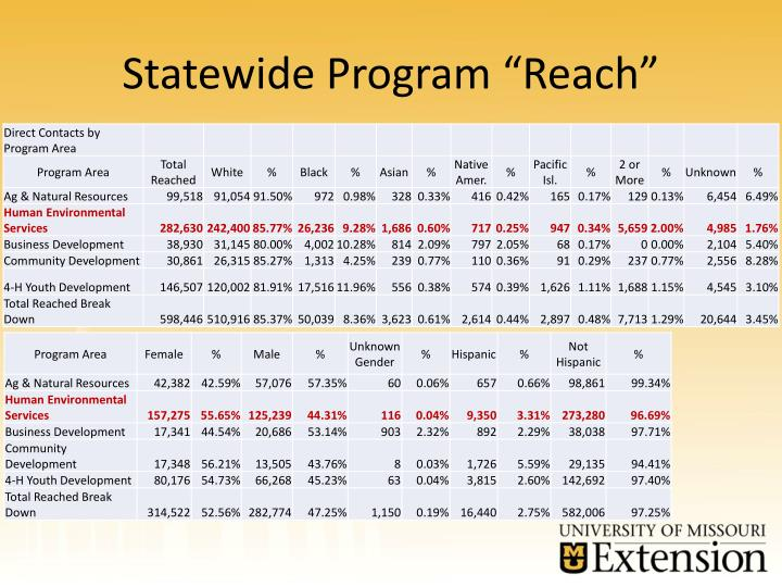 "Statewide Program ""Reach"""