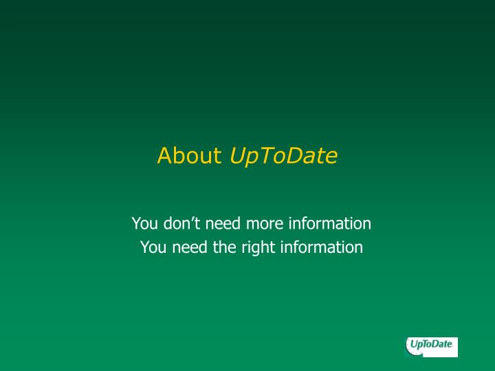 About uptodate