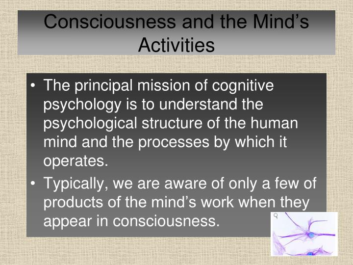 Consciousness and the Mind's Activities