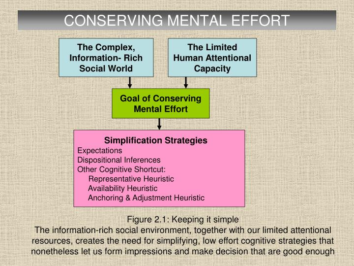 CONSERVING MENTAL EFFORT