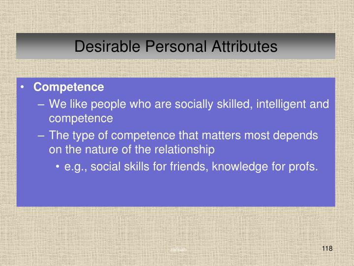 Desirable Personal Attributes