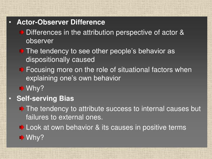 Actor-Observer Difference