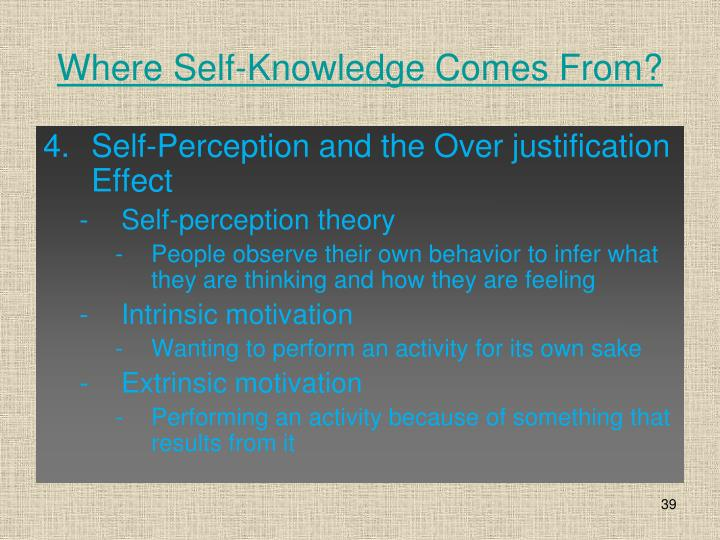 Where Self-Knowledge Comes From?
