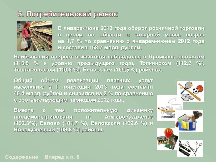 5. Потребительский рынок