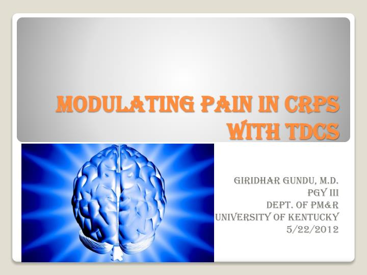 Modulating pain in