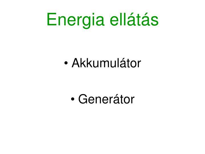 Energia ellátás