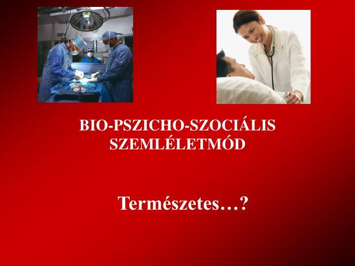BIO-PSZICHO-SZOCIÁLIS SZEMLÉLETMÓD