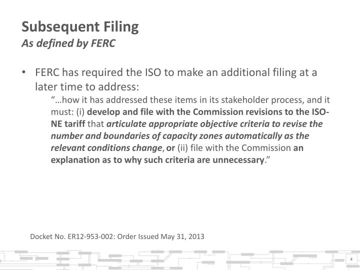 Subsequent Filing