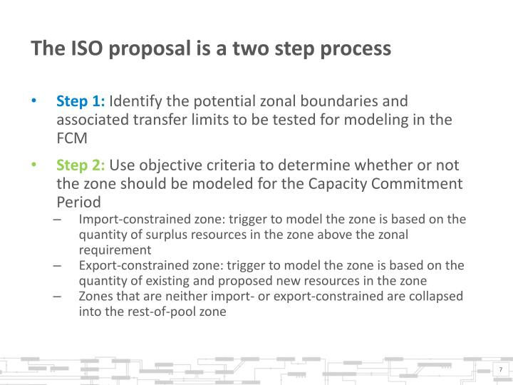 The ISO proposal is a two step process