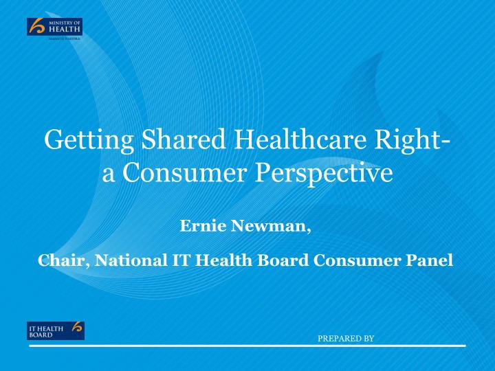 Getting shared healthcare right a consumer perspective