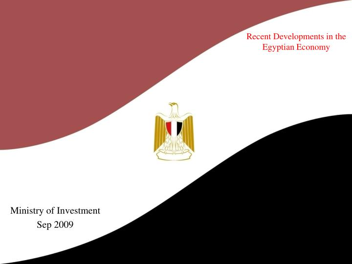 Recent developments in the egyptian economy