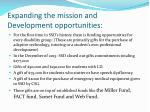 expanding the mission and development opportunities