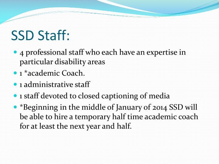 SSD Staff: