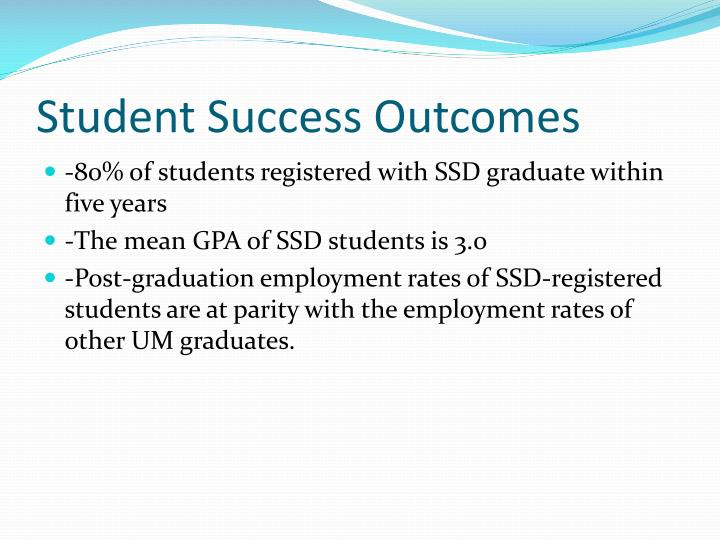 Student Success Outcomes