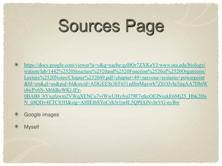 Sources Page