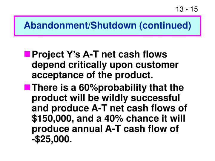 Abandonment/Shutdown (continued)