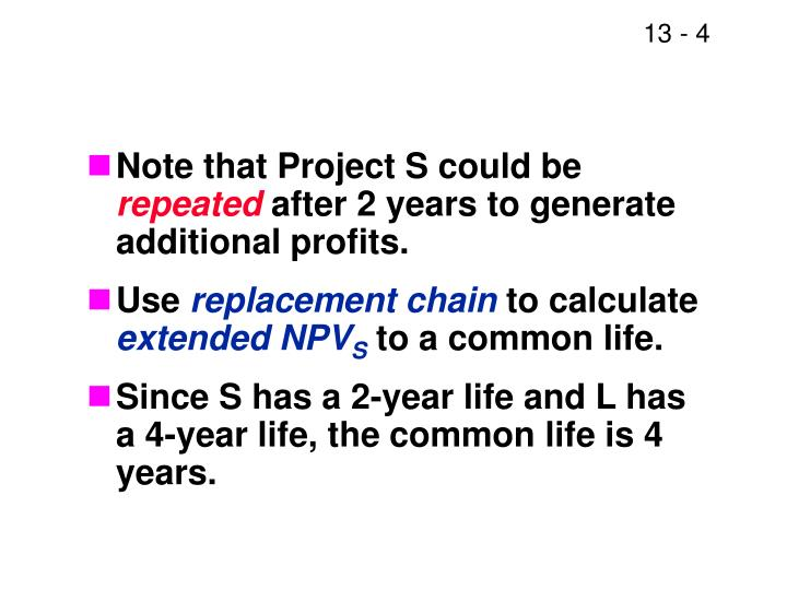 Note that Project S could be