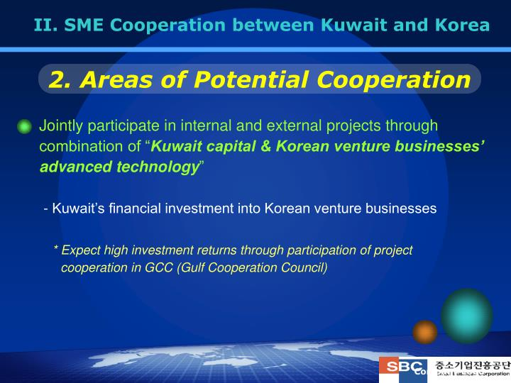 II. SME Cooperation between Kuwait and Korea
