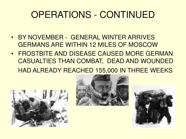 OPERATIONS - CONTINUED