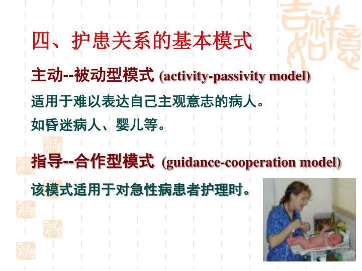 四、护患关系的基本模式
