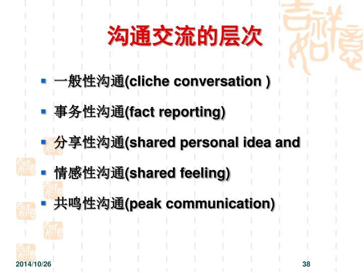 沟通交流的层次