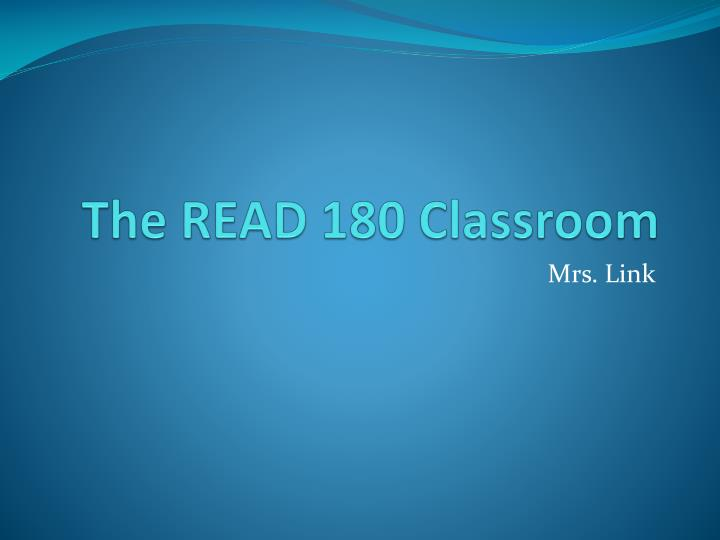 The read 180 classroom