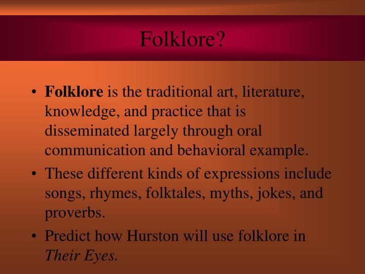 Folklore?