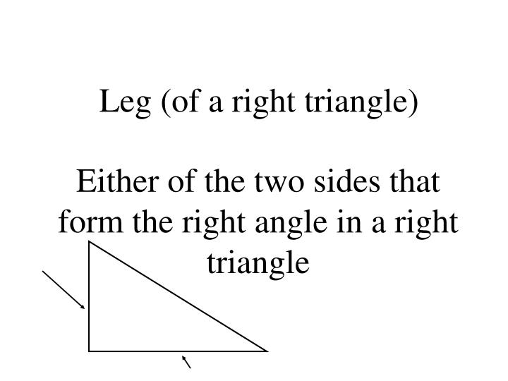 Leg (of a right triangle)