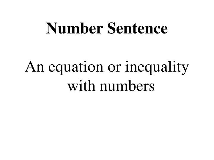 Number Sentence