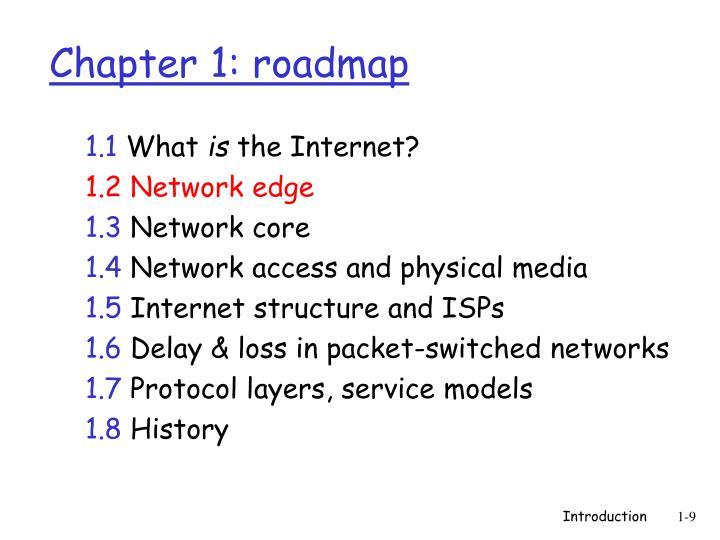 Chapter 1: roadmap