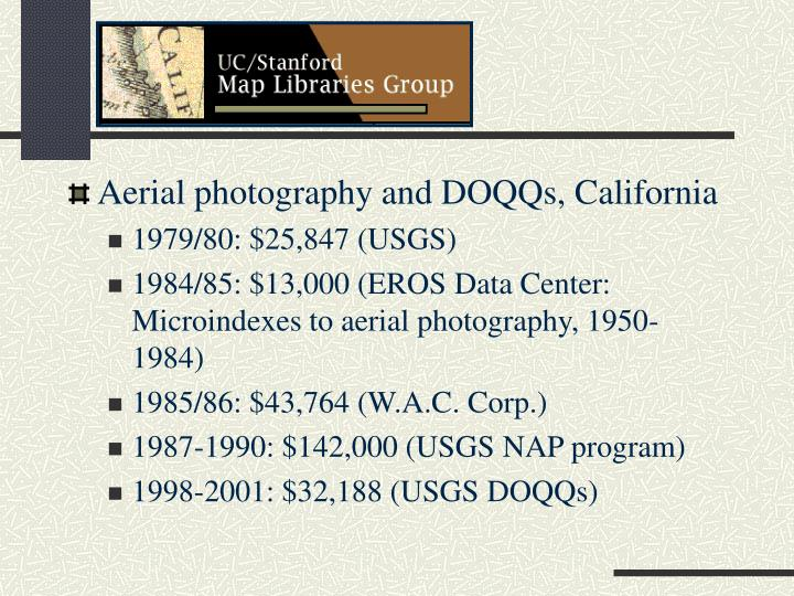 Aerial photography and DOQQs, California