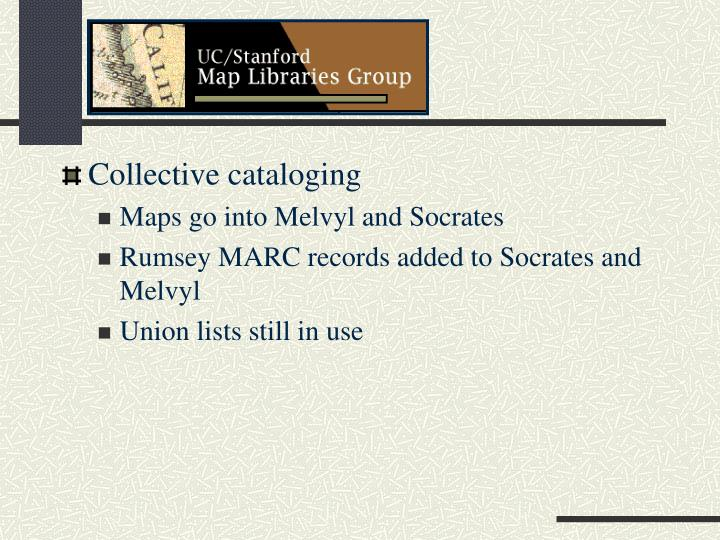 Collective cataloging