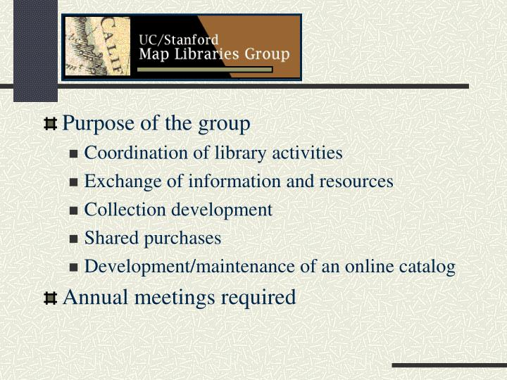 Purpose of the group