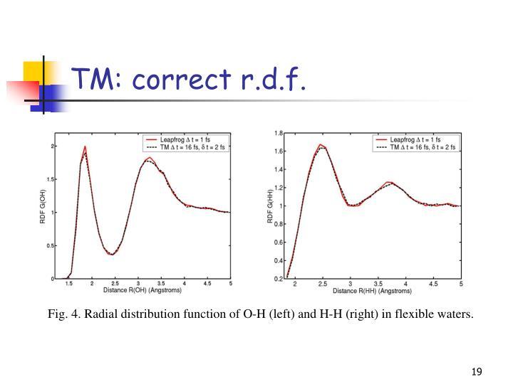 TM: correct r.d.f.