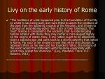 livy on the early history of rome