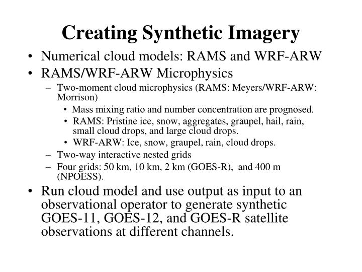 Creating Synthetic Imagery