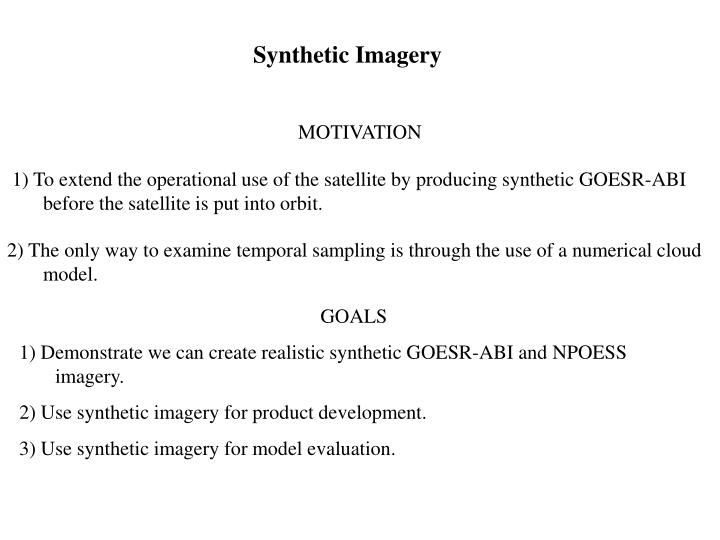 Synthetic Imagery