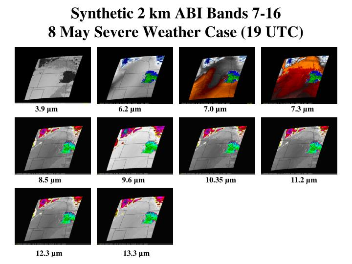 Synthetic 2 km ABI Bands 7-16