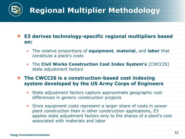 Regional Multiplier Methodology